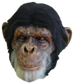 Men's Chimp Latex Mask - Standard