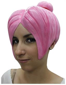 Women's Anime 4 Latex Pink Wig - Standard