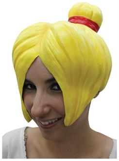 Women's Anime 4 Latex Yellow Wig - Standard