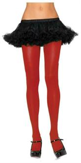 Women's Adult Nylon Red Tights - Standard