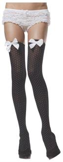 Women's Stockings Thihi Polka Dot Black White - Standard