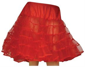 Women's Petticoat Red Knee Length - Standard
