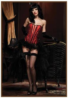 Women's Corset Betty Black/Red