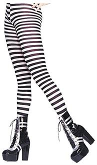 Women's Tights Striped Black White Stockings