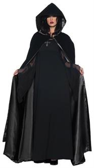 Deluxe female Cape Black/Black Costume