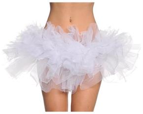 Women's Tutu White Skirt - Standard