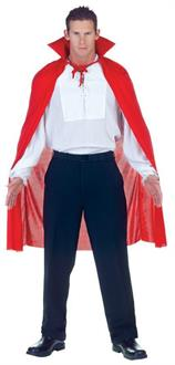 Men's Cape Red Male Costume - Standard