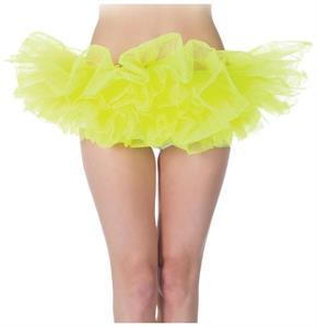 Women's Tutu Neon Yellow Skirt - Standard