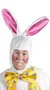 Men's Professional Easter Bunny Adult Costume - White - One-Size