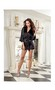 Women's Charmeuse Short Length Kimono w/Matching Chemise