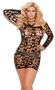 Women's Off the shoulder ripped net mini dress