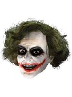 Batman Dark Knight Adult Joker 3/4 Vinyl Mask with Hair