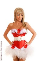 Red Hot Diva Burlesque Corset and Pettiskirt
