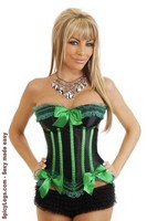 Green Apple Burlesque Corset