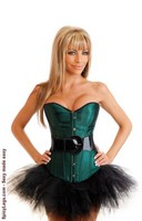 Poison Ivy Burlesque Corset and Pettiskirt