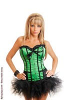 Strapless Cigar Girl Corset and Pettiskirt