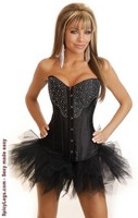 Rhinestone Cowgirl Burlesque Corset and Pettiskirt