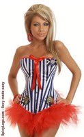 2 PC Pin-Up Sailor Costume