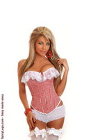 Country Girl Gingham Corset