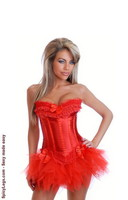 Sizzling Hot Burlesque Corset and Pettiskirt
