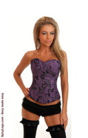 Purple Floral Sparkle Corset