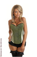 Green Sequin Burlesque Corset