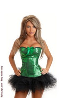 Emerald Sequin Corset and Pettiskirt