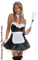 6 PC Sexy Maid Costume
