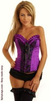 Purple Sequin Pin-Up Corset