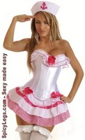 3 PC Pink Sailor Girl Costume