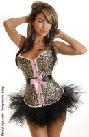 Leopard Belted Corset and Pettiskirt