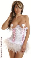 Bridal Lace Underbust Corset and Pettiskirt