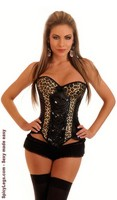 Leopard and Sequin Underwire Burlesque Corset