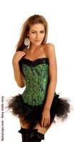 Mother Nature Burlesque Corset and Pettiskirt