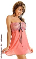 Sweet Strawberry Lace Babydoll