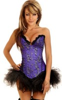 Purple Floral Sparkle Corset and Pettiskirt