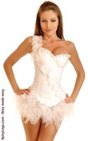 Floral Strap Underwire Corset and Pettiskirt