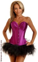 Purple Strapless Steel Boned Corset and Pettiskirt