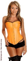 Orange Ravewear Faux Leather Corset