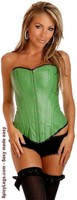 Green Ravewear Faux Leather Corset