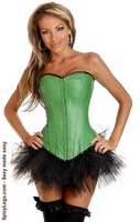 Green Ravewear Faux Leather Corset and Pettiskirt