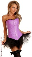 Purple Ravewear Faux Leather Corset and Pettiskirt