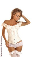Embroidered Peasant Top Corset