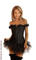 Embroidered Peasant Top Corset and Pettiskirt