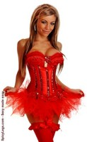 Burlesque Sequin Underwire Corset and Pettiskirt