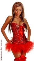 Pin-Up Sequin Corset and Pettiskirt