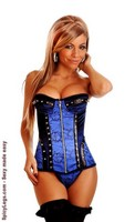 Steel Boned Velvet and Brocade Corset