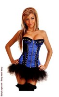 Steel Boned Velvet and Brocade Corset and Pettiskirt