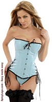 Strapless PVC Lace-Up Corset