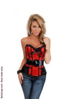 Strapless Cigar Girl Belted Corset